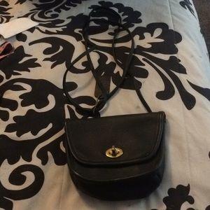 Vintage Coach Mini Dark Navy Crossbody Bag